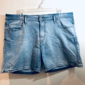 Levi's Distressed Light Denim Shorts